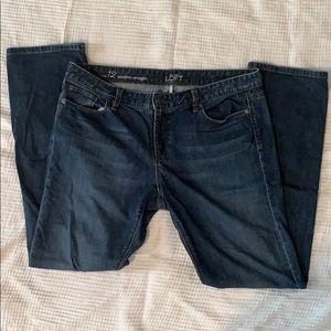 Ann Taylor Loft Modern Straight Jeans sz 31 / 12